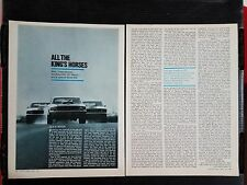 Vintage 1970 Ford Boss 302, Mach 1 & Boss 429 Mustang - 4-Page Article