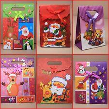 Paquete De 12 bolsas de regalo de Navidad al por mayor bolsa de embalaje Navidad Bolsas De Papel