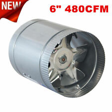 "6"" Inline Duct Fan 260CFM Booster Exhaust Blower Aluminum Blade Air Cooling WP"