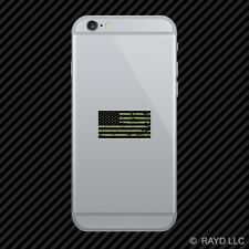 Tattered OD Green American Flag Cell Phone Sticker Mobile america usa