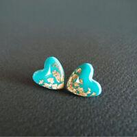 Natural Gemstone Wedding 925 Silver Jewelry Turquoise Earrings Gems Ear Stud