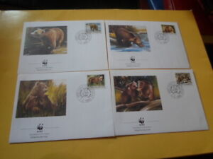 Yugoslavia 1988 Wwf Brown Bear 4 FDC First Day Covers