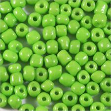 Perles de Rocailles en verre Opaque 4mm Vert Anis