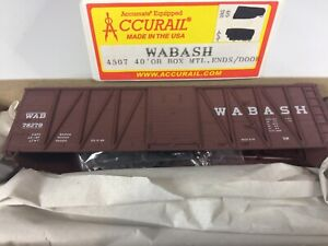 Accurail 4507 40' Outside Braced Wood Boxcar Wabash #78279 - unbuilt kit