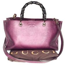 Gucci Leather Large Bamboo Shopper Tote