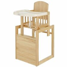 Obaby Combination Wooden Child/Baby Highchair - Natural