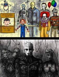 Peanuts Pinhead Hellraiser Play Lot of (2) High Quality Posters Jason Vorhees