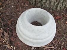 """10"""" Across Cement Gazing Ball Globe Holder Garden Art Concrete Statue"""