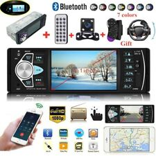 4.1'' Single 1DIN Car Stereo MP5  W/ 4LED Camera Player Bluetooth FM Radio USB