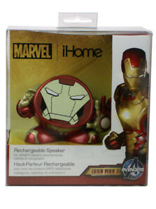 Iron Man Avengers iHome Rechargeable Portable Speaker Marvel Comics Brand New