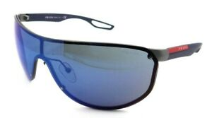 Prada Sport Sunglasses PS 61US 9P1-9P1 40-xx-130 Gunmetal -Dark Blue/Blue Mirror