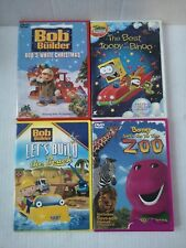 Assorted Children's DVD'S Lot Of 4. Bob the Builder x2, Barney, Toopy and Binoo