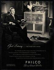 1946 PHILCO Phonograph Record Player - Singer BING CROSBY - Music VINTAGE AD
