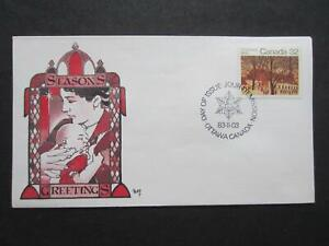 Canada first day cover, Marg Cachet, 1004 Christmas 1983