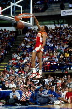 "253 NBA DUNK BLOCK STAR - Spud Webb USA Classic Basketball 14""x21"" Poster"