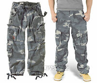 SURPLUS AIRBORNE TROUSERS NIGHT CAMO RAW VINTAGE CARGO BLUE MIDNIGHT PANTS ARMY
