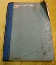 Werkstatthandbuch Audi 50 Stand 08/1974