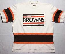 Cleveland Browns Rare Vintage Throwback Shirt NFL - XL White Brown Orange