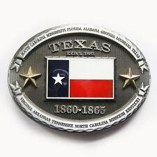 Men Buckle Oval Star Texas Flag Belt Buckle Gurtelschnalle Boucle de ceintur