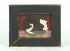 PRIMITIVE Wood Framed CAT PAINTING Carousel Unlimited Cabool MO
