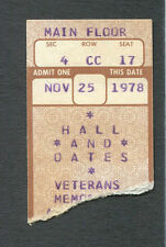 1978 Hall & Oates City Boy concert ticket stub Along The Red Ledge Columbus OH