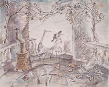 The Heron & the Crane Y.Norstein's/Norshteyn animation Signed Giclée (Gazebo)