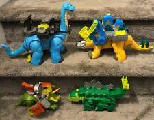 New ListingLot Of 4 Imaginext Dinosaurs Apatosaurus Stegosaurus Triceratops Dinotrux Mattel