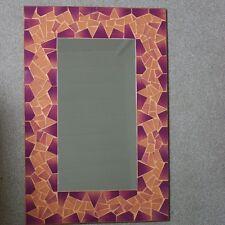 HAND Crafted Mosaico Specchio con darkyellow e colore marrone 60x40 cm di larghezza