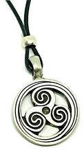 Triskelion Triskele BDSM Symbol Pendant Secret Fetish Kink Bead Cord Necklace