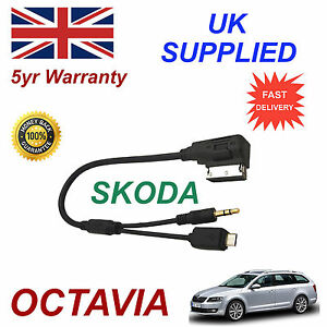 Skoda Octavia Samsung Galaxy S2 S3 S4 S5 S6 S7 Micro & AUX 3.5mm Cable