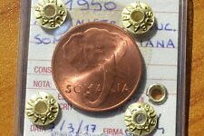 AMMINISTRAZIONE FIDUCIARIA SOMALIA ITALIANA 1950 5 CENT RAME ROSSO FDC SUBALPINA