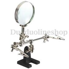 Third Hand Soldering Solder Iron Stand Helping Magnifying Tool Magnifier
