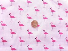 Pink Flamingo Polycotton fabric/Material - 1 full metre