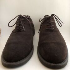 Polo Ralph Lauren Mens Oxfords Shoes Westford Brown Oiled Suede Lace Up 10 D