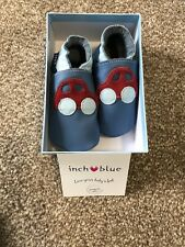 Inch Blue Girls Boys Luxury Leather Soft Sole Baby Shoes Digger Turquoise