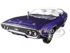 "1971 PLYMOUTH SATELLITE SEBRING PLUS ""MCACN"" PURPLE 1/18 BY AUTOWORLD AMM1146"