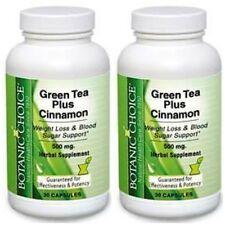 GREEN TEA + CINNAMON 1150MG WEIGHT LOSS BLOOD SUGAR DIET SUPPLEMENT 60 CAPSULES