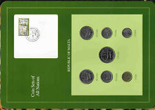 Malta set of 6 coins 1 lira 25+10+5+2+1 cents 1986 Price for one set