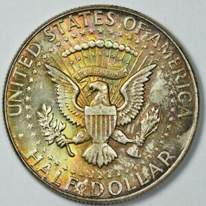 1964 Kennedy Half Dollar 50c Toned Brilliant Uncirculated MS UNC BU