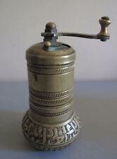 Vintage old Turkey Ottoman Metal bronze black pepper mill with prayer