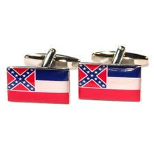 BLU, BIANCO & ROSSO Mississippi USA American flag di stato GEMELLI con Sacchetto Regalo