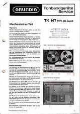 Service Manual-Anleitung für Grundig TK 147 de Luxe