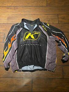 Klim Air Control flame quarter zipTeam Jersey XL snowmobile motocross shirt