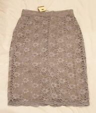 Oleana Laceskirt Lace Skirt Gray New with Tags Pencilskirt Pencil Size S