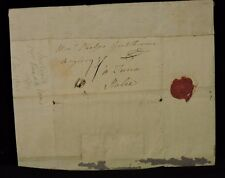 JOHN WARD (1704-1774) UK MEMBER OF PARLIAMENT 1762 STAMPLESS LETTER WAX SEAL
