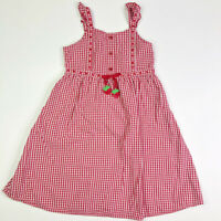 Gymboree Girls Red Gingham Strawberry Fields Dress 8