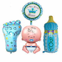 4PCS Baby Boy Huge Foil Helium Balloons New Baby Shower Christening Birthday