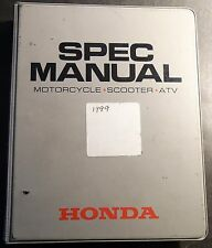 1999 Honda Dealer Motorcycle, Scooter, & Atv Spec Manual (625)