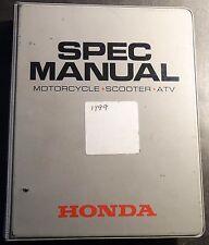 1999 HONDA DEALER MOTORCYCLE, SCOOTER, & ATV SPEC MANUAL (625)