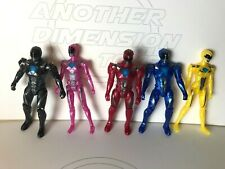 New listing Power Rangers Movie - complete Lot Of 5 Blue Red Black Pink Yellow Loose Figures